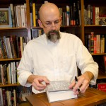 Neal Stephenson signing my copy of Reamde