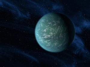 Artist's conception of earth-like planet Kepler-22b. Kepler22b Diagram showing relative size and orbit of new planet and our solar system. Image credit: NASA/Ames/JPL-Caltech