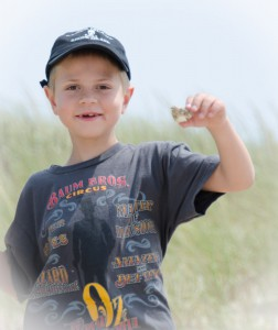Preston finding Treasures on Block Island