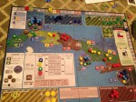 Cuba Libre; middle of game. I played Directorio (yellow)