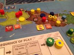 Cuba Libre; I played Directorio (yellow). Never really controlled much more than this, though I did have more bases elsewhere.