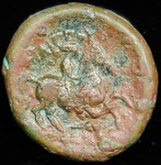 Macedonium Kingdom; Philip II; 359-336 B.C.; Macedonia mint; R:  Young male riding horse prancing to right, spearhead right below