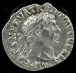 Trajan. Silver denarius. Rome Mint, 101-102 A.D. gVF, 3.318g, 18.0mm, 180º , RSC II 228, BMCRE III 94, BnF IV 138, Woylek 520v, RIC II 52, Strack I 41, Hunter II 30 var (aegis), SRCV II O: IMP CAES NERVA TRAJAN AVG GERM, Laureate head right