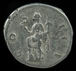 Hadrian, Ar denarius, AD 117-138.  R:  Genius standing.