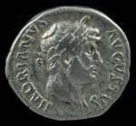 Hadrian, Ar denarius, AD 117-138.  O:  His laureate head.