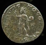 """Constantine I, Bronze Folis, 307-337 AD.  Lugdunum mint (Lyons).  R:  """"Soli Invicto Comiti"""".  Sear 3868"""