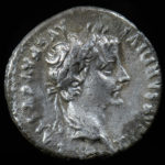 "Tiberius, 14-37 AD. Ar Denarius. ""Tribute Penny"" of the Bible. Obv. Laureate head right."