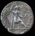 "Tiberius, 14-37 AD. Ar Denarius. ""Tribute Penny"" of the Bible. Rev. Livia seated right."