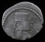 Persia, Artabanus II, Parthian Kingdom, 10-38 AD.. Obv. King's bust left square cut beard, straight, earring visible